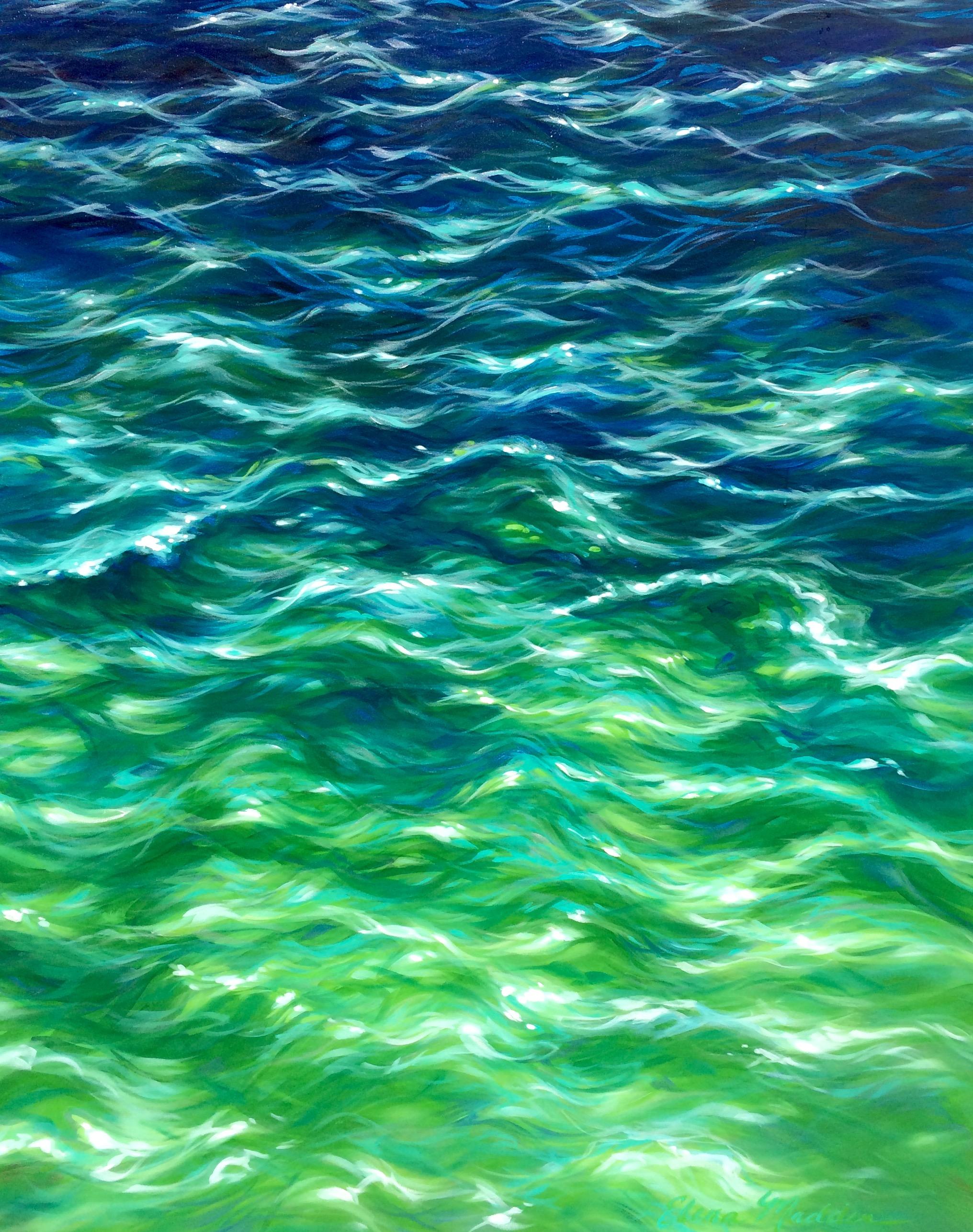 "Jade Sea 42x52"""