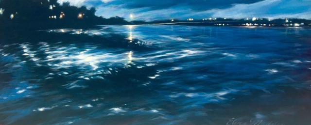 """Moon over factory creek 18x34"""""""