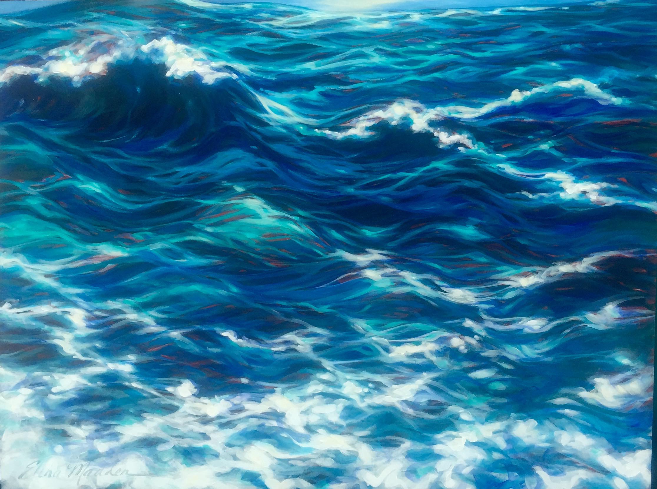"""Sea foam and Sun 36x48"""""""