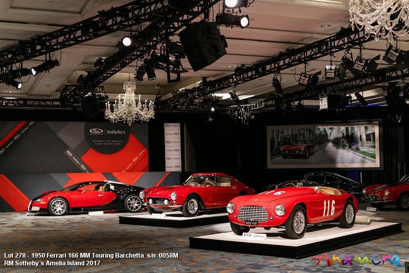 Lot 278 - 1950 Ferrari 166 MM Touring Barchetta s/n 0058M Est. $8,000,000 - $10,000,000 €7,550.000 - 9,430,000