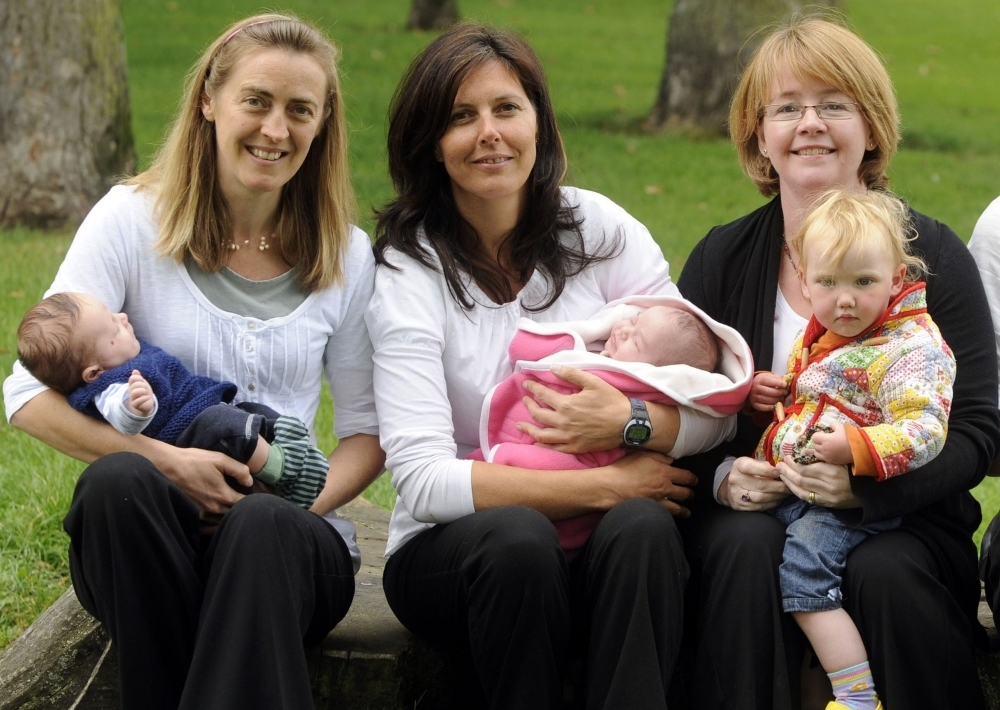L-R Fiona, Rachael and Dee with 3 of our little success stories