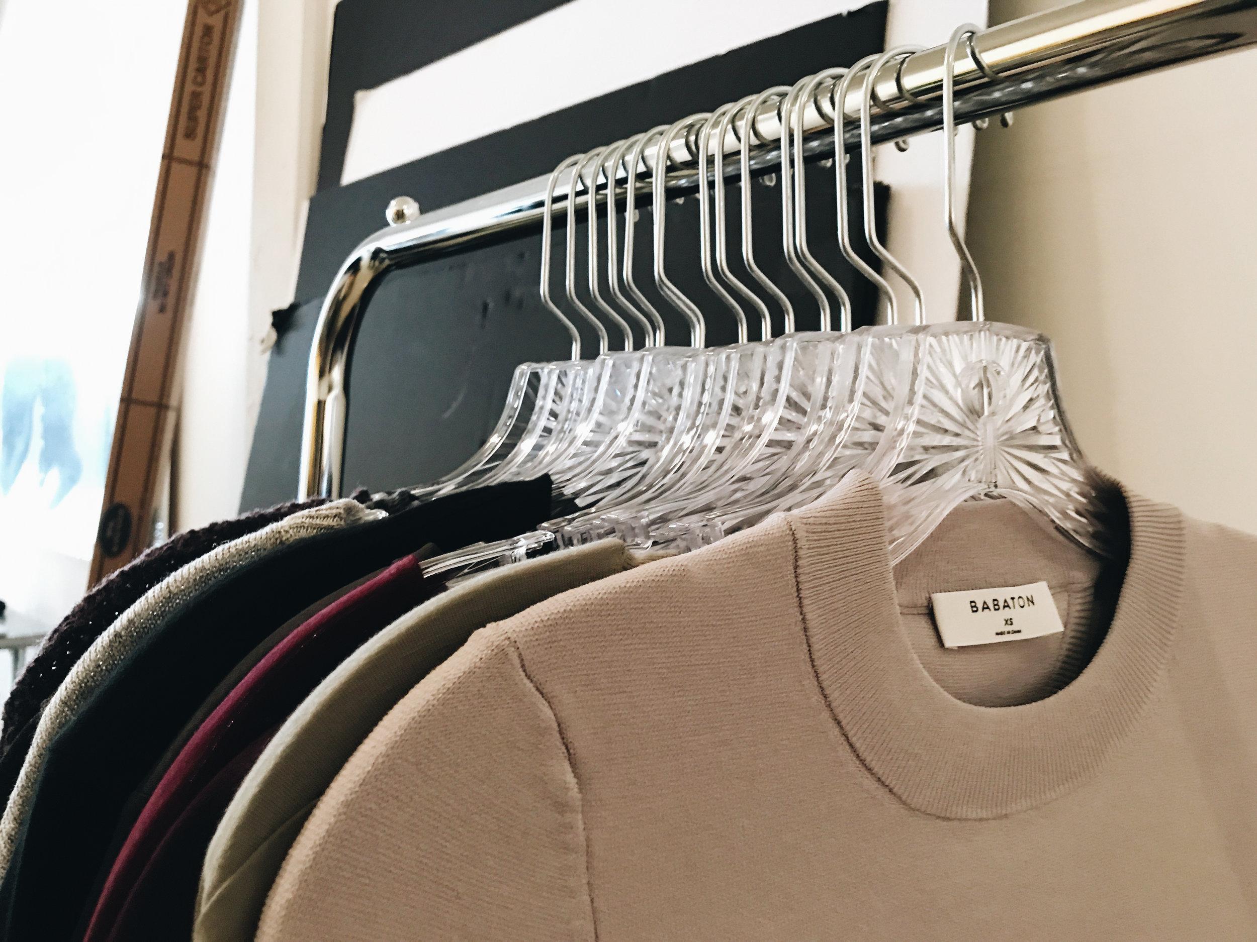 Wardrobe set up
