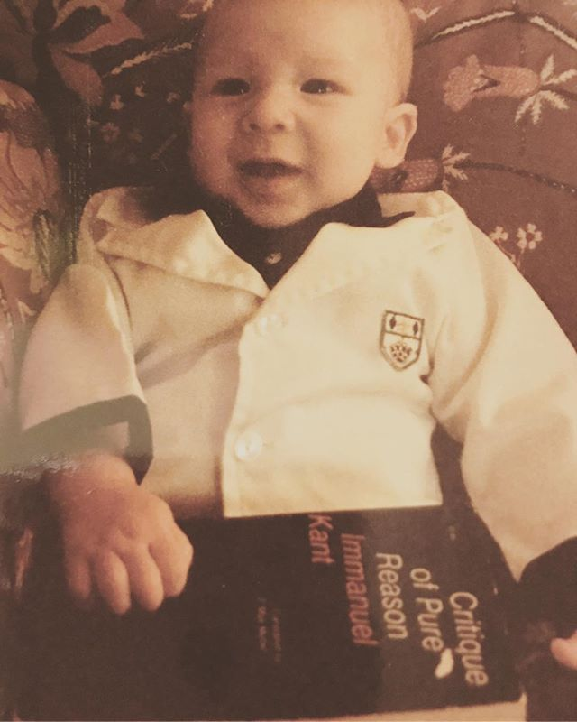 Nerd credentials. #tbt : : #throwback #thursday #PHnerd #childhood #family #photos #philosophy #reason #analytical #empiricism #rationality #logic #kant #theory #space #time #consciousness #metaphysical #baby #concepts