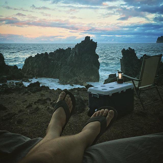 Tsunami campsite . : : : #laupahoehoe #hawaii #adventure #travel #diy #offroad #wander #weekend #tsunsmi #ocean #views #camping #campvibes #hamakua #maunakea #lava #leaf #island #beach #roadtrip
