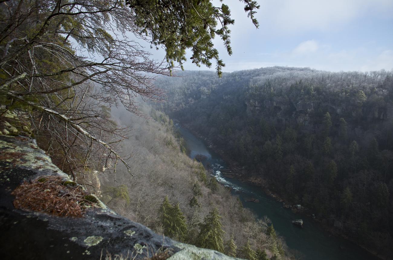 Breakaway Bluff overlook in Winter