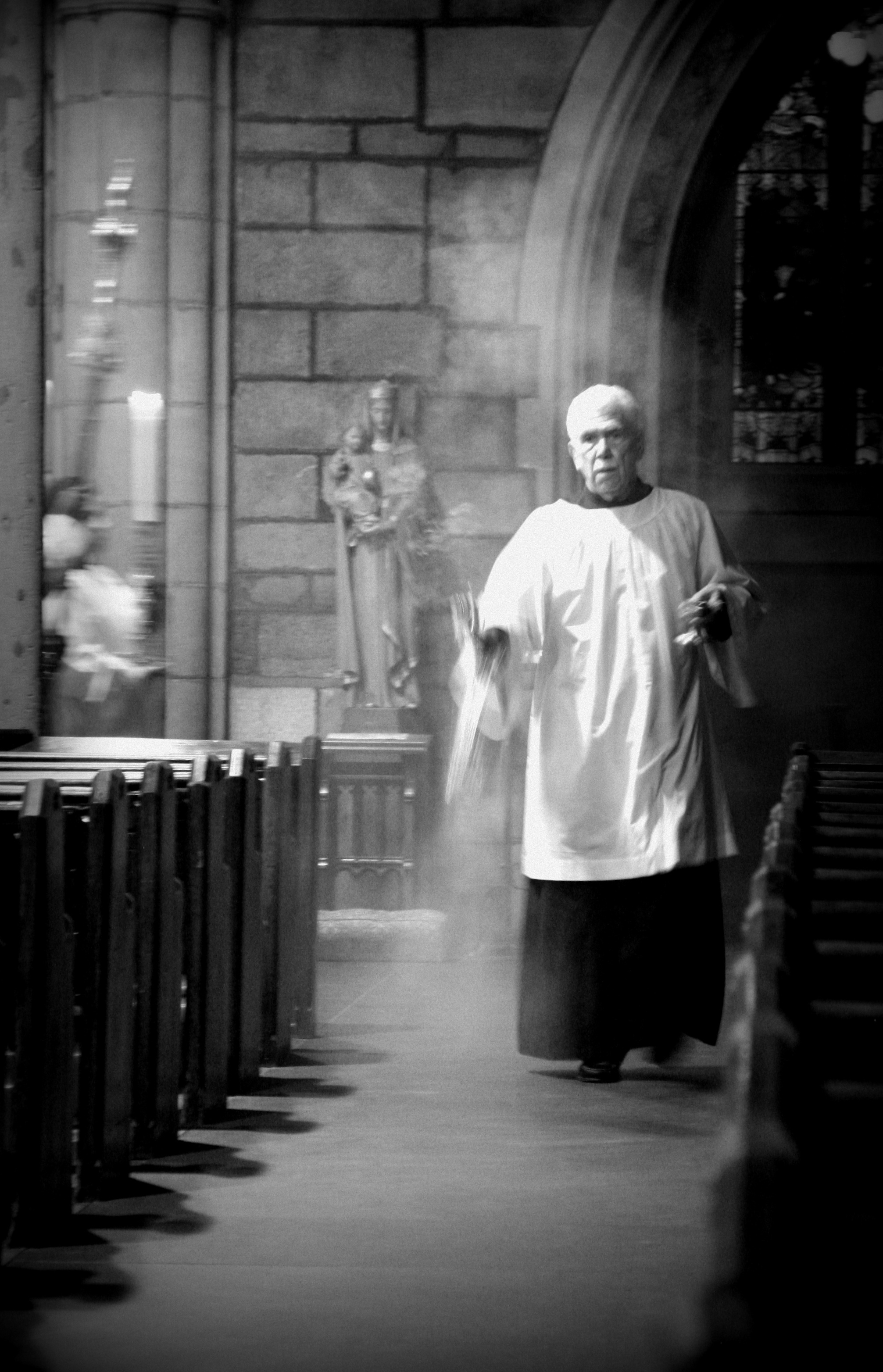 Thurifer leading the Procession with Incense