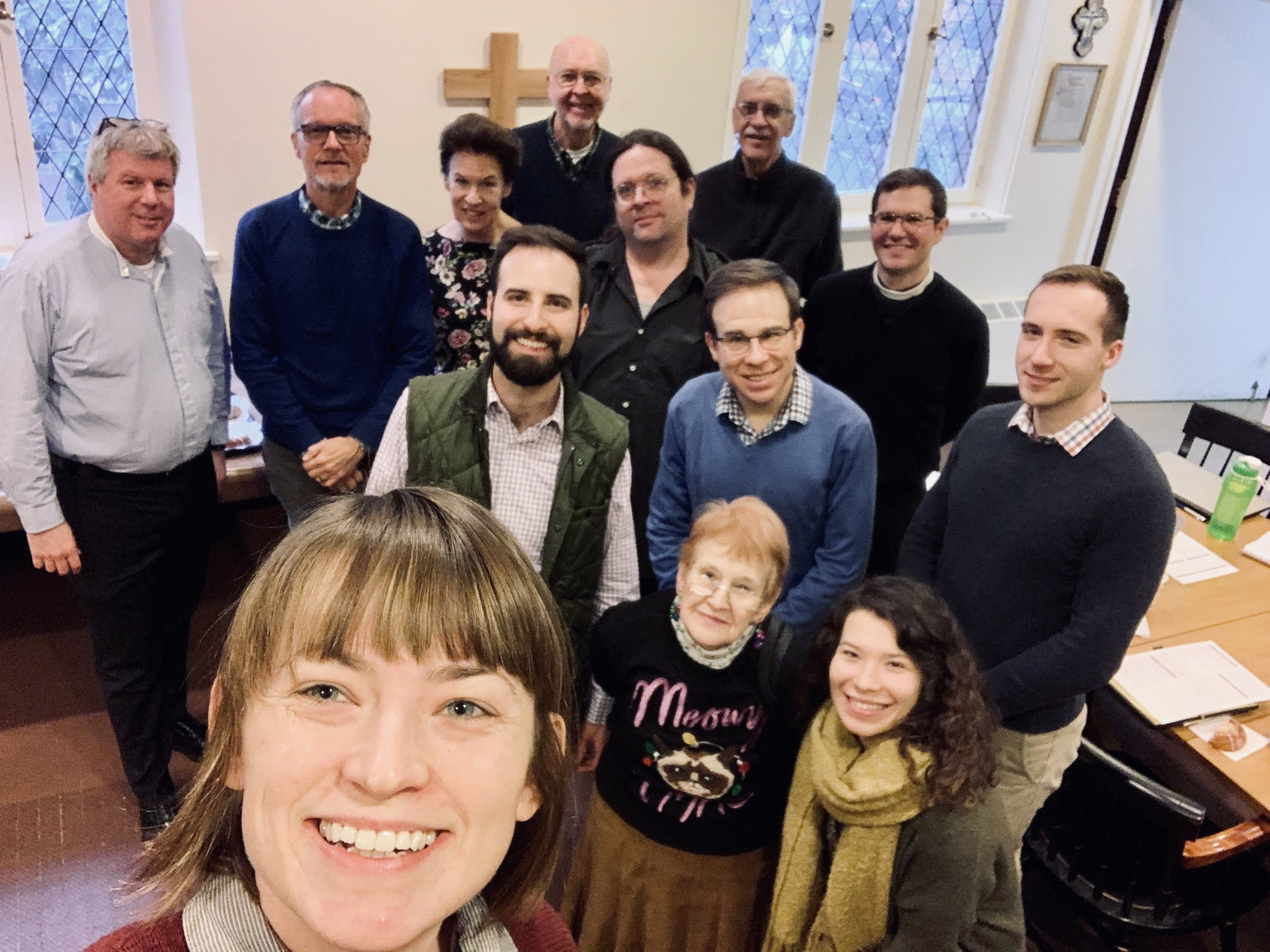 Selfie of the Saint Mark's Staff and Office Volunteers