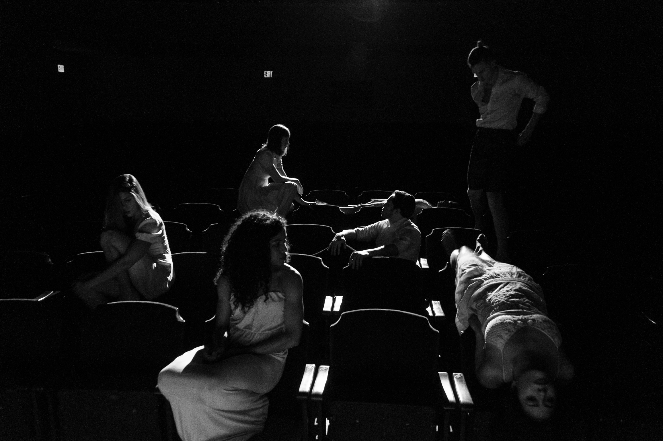 Skye Van Rensselaer, Kristin Yancy, Emily Palmquist, Geoff Kanick,Clinton Edward, Caitlin Cassidy, Nadine Malouf- Photo: John Deamara
