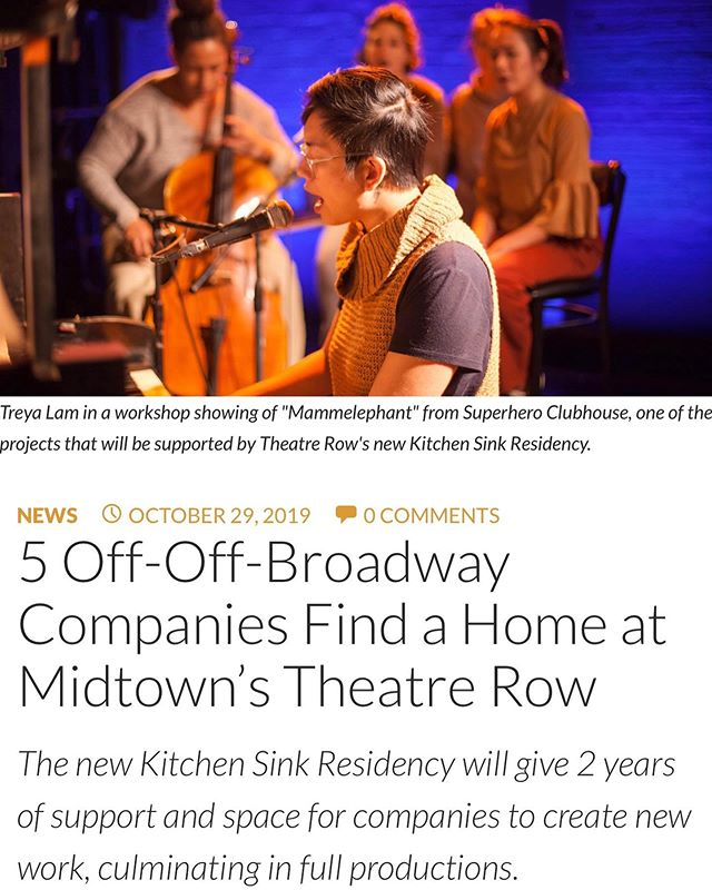 WE ARE BESIDE OURSELVES WITH EXCITEMENT!!! Officially announcing that we will be joining a brilliant cohort of companies for Theatre Row's 2019 - 2021 Kitchen Sink Residency under the genius leadership of @scameronh and Stephanie Rolland! We could not be prouder or more grateful. HERE WE COME 42nd STREET! 🎉 | @superheroclubhouse @brokenboxmime @assemblytheater @noortheatre @theatrerow @buildingforthearts @onlyeconnect @tvingerson @mayte_n KitchenSink #nyc #theatre #newwork #OnTheLawn