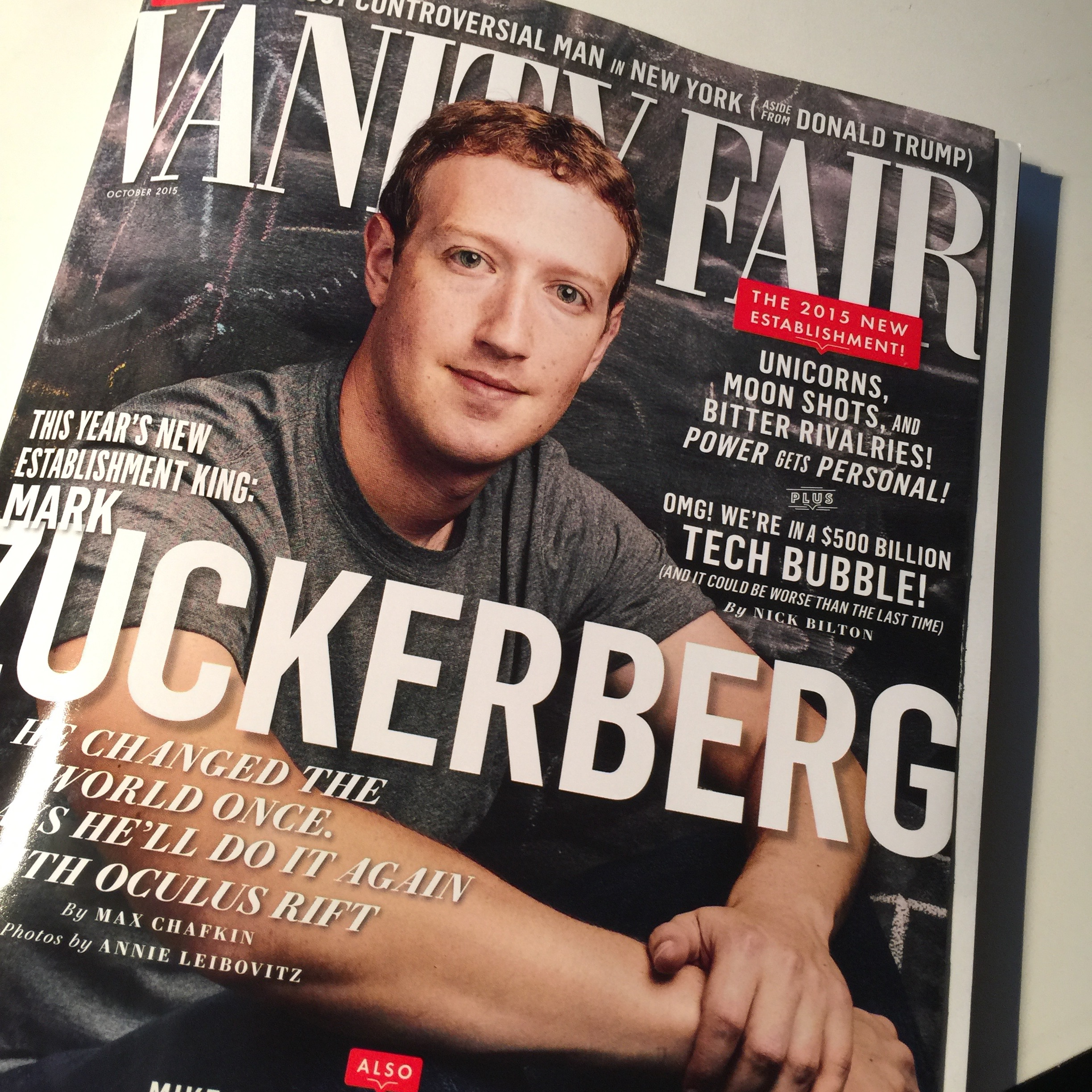 iThigh in Vanity Fair Magazine New Establishment Mark Zuckerberg