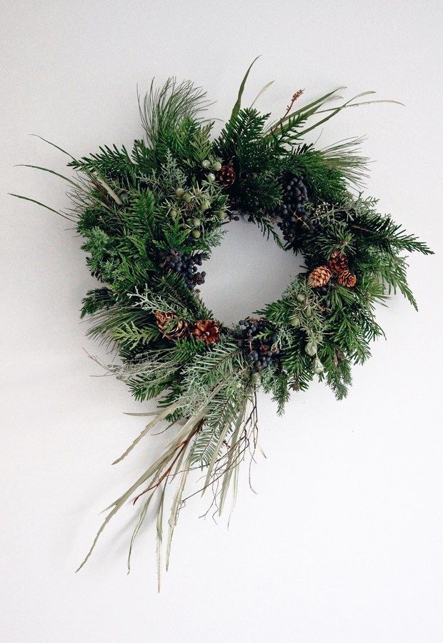 Abi's wreath | Photo by Abi Dare of These Four Walls