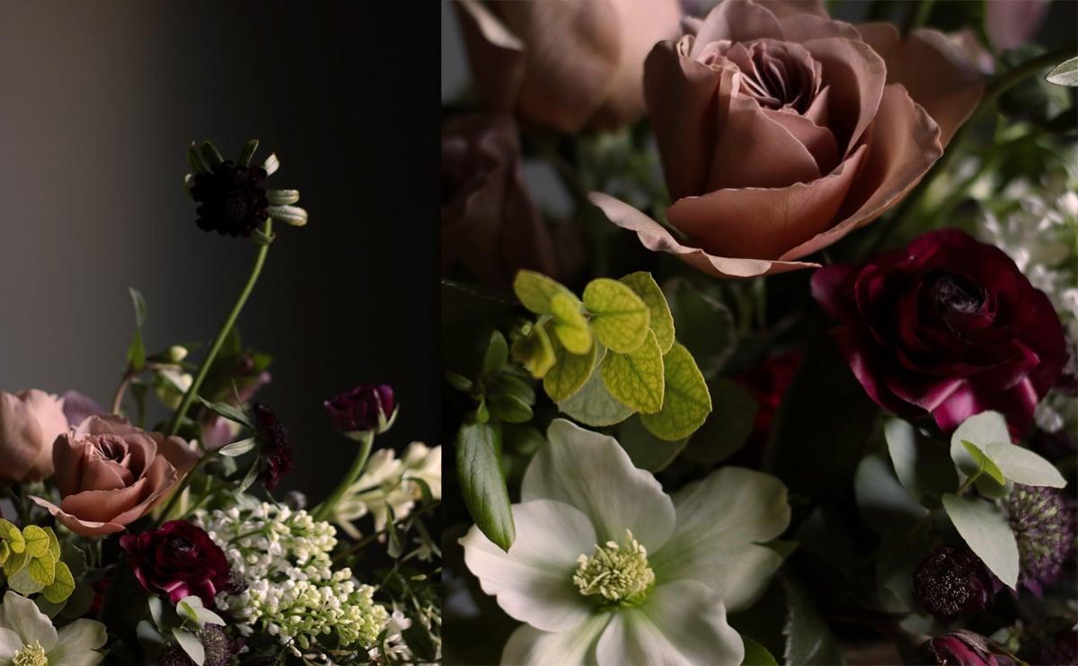 Cafe Latte Roses, Ranunculus, Scabiosa, Hellebores, Astrantia, Tuberose and Lilac