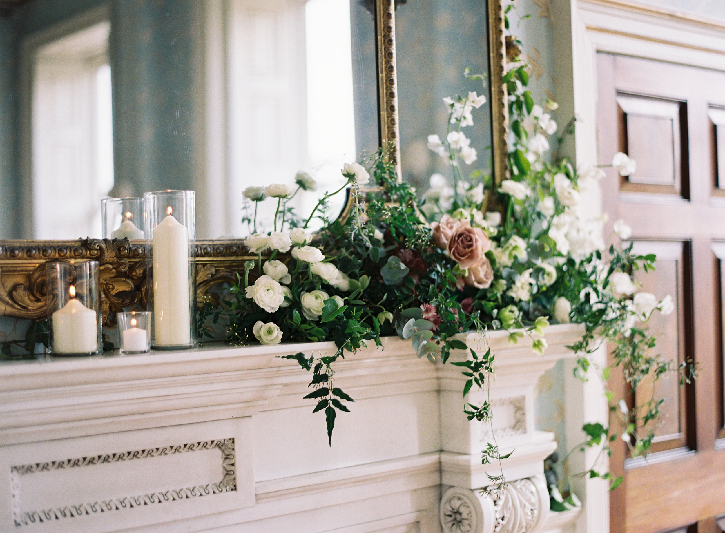 Mantel arrangement by Ruby & The Wolf
