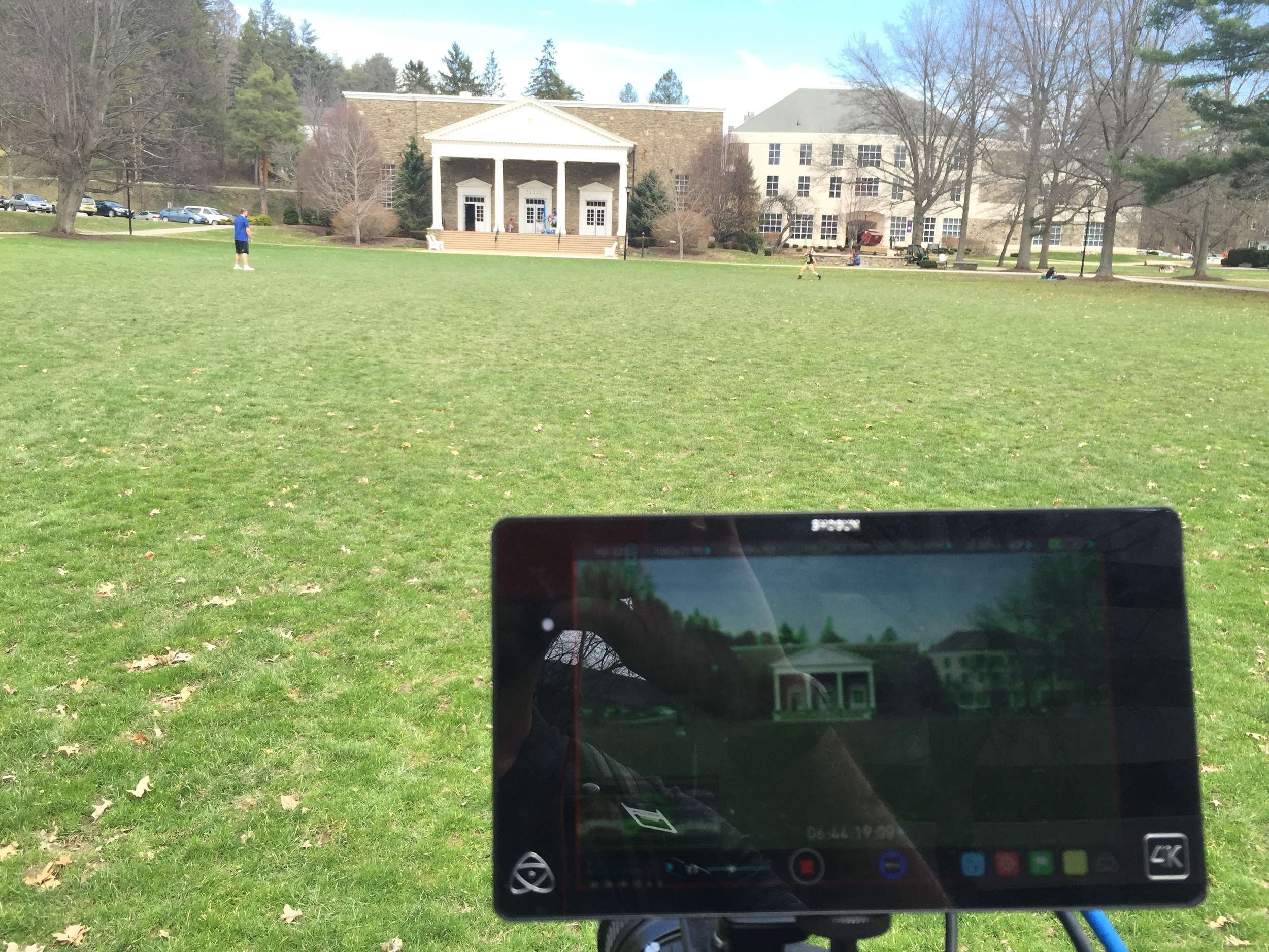 Atomos Shogun recorder in action at Houghton College, NY.