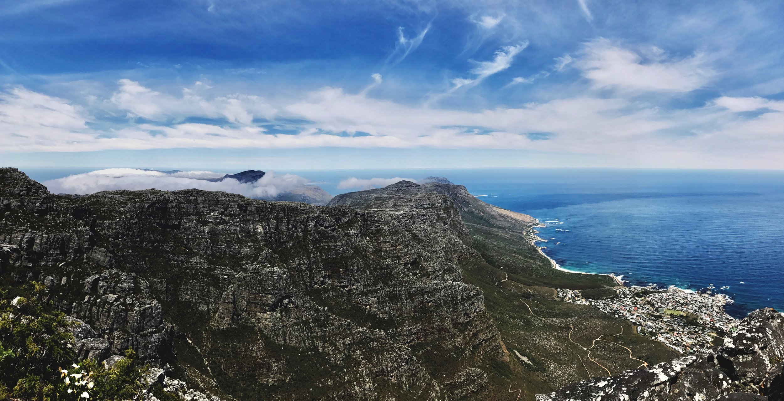 It's incredible the amount of resolution available by using the simple Panoramic feature on iOS. Take a look at this photo on top of Table Mountain. To do this with my A7Rii, I would need to work on some pretty heavy stitching in post. Obviously, I would gain even more resolution, but for online delivery you wouldn't be able to notice the difference.
