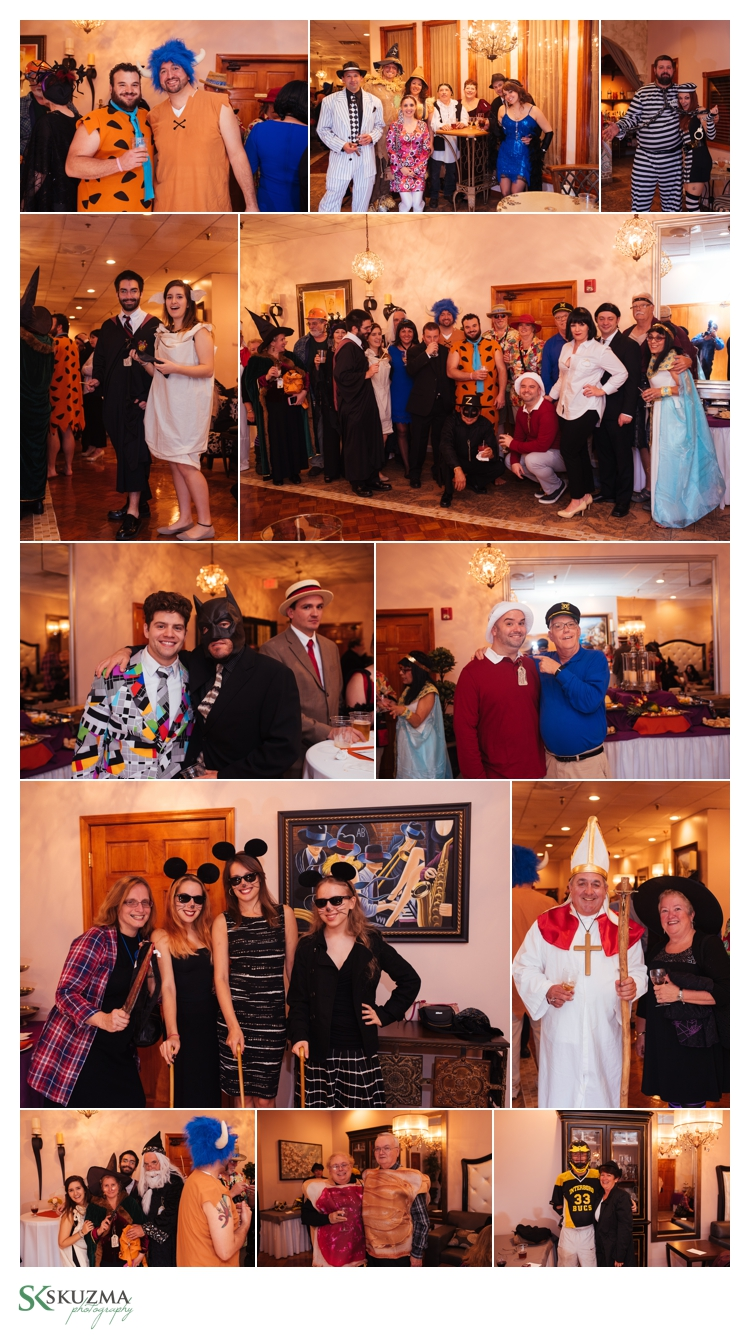 The guests went all out and looked amazing in the costumes for this wedding