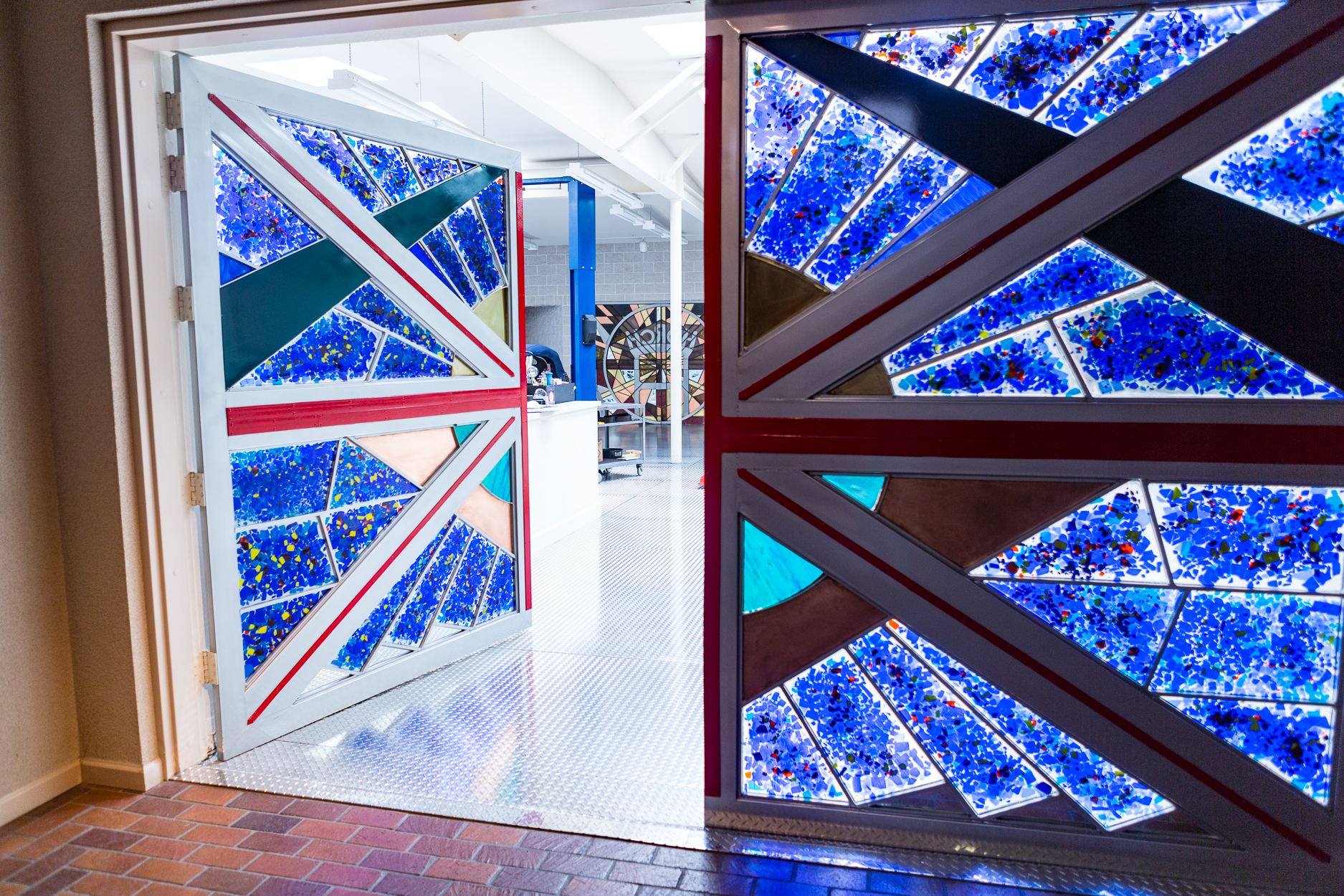 The latest commissioned Glass and Metal Door for a museum.