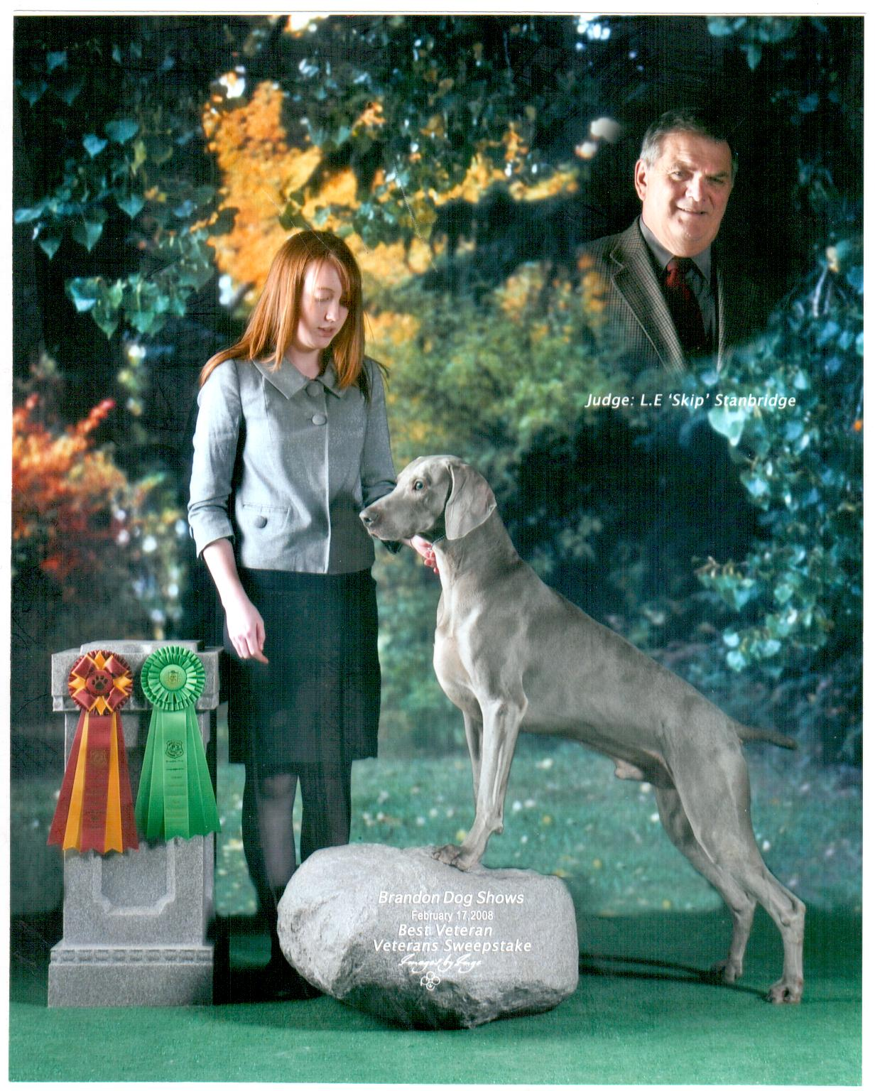 Jiro  Winning Best Veteran in Show