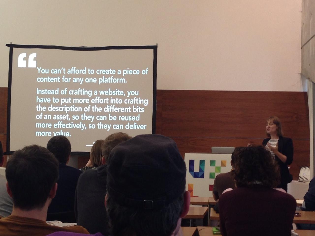 Karen McGrane speaking at UXLX