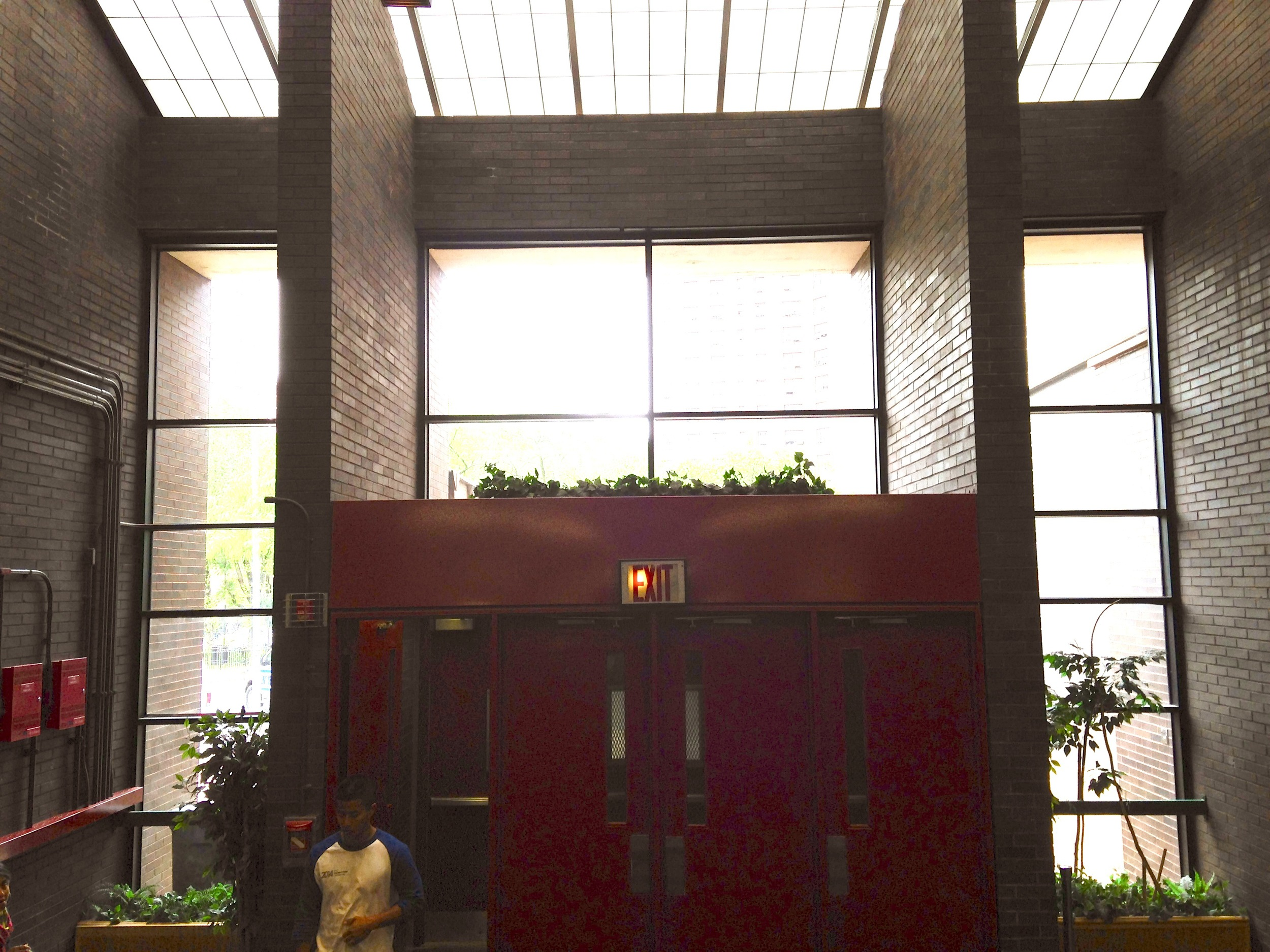 The building's main entrance.