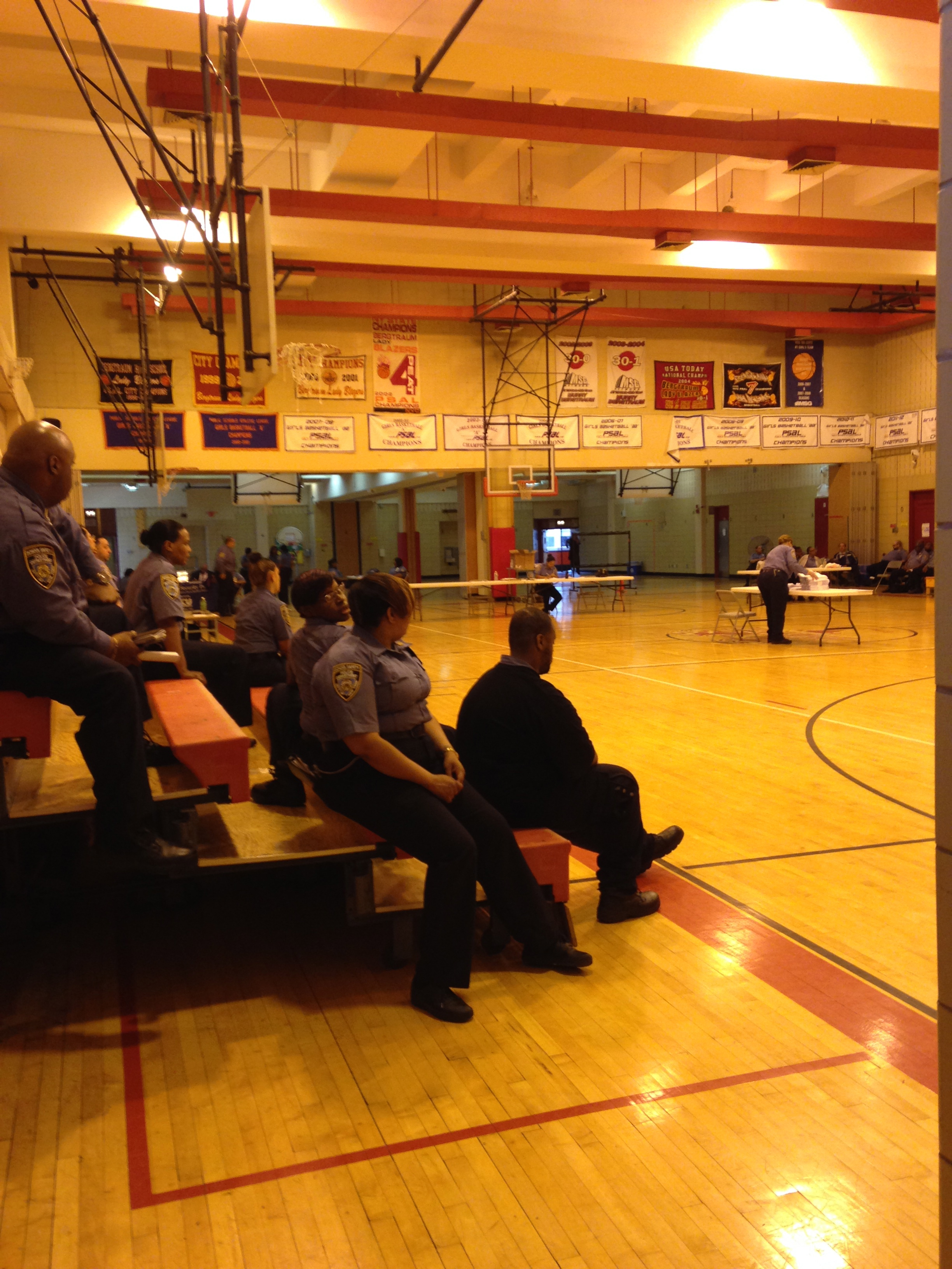 One of the two gymnasiums