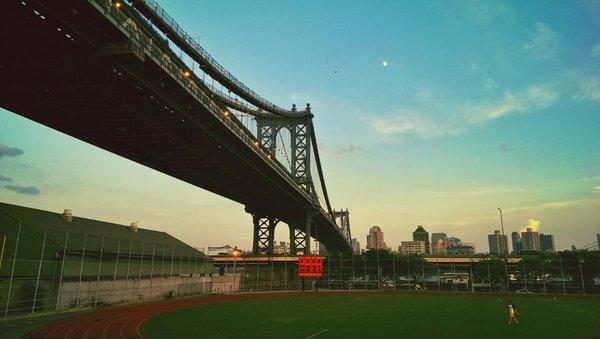 Murry Bergtraum baseball field & track.