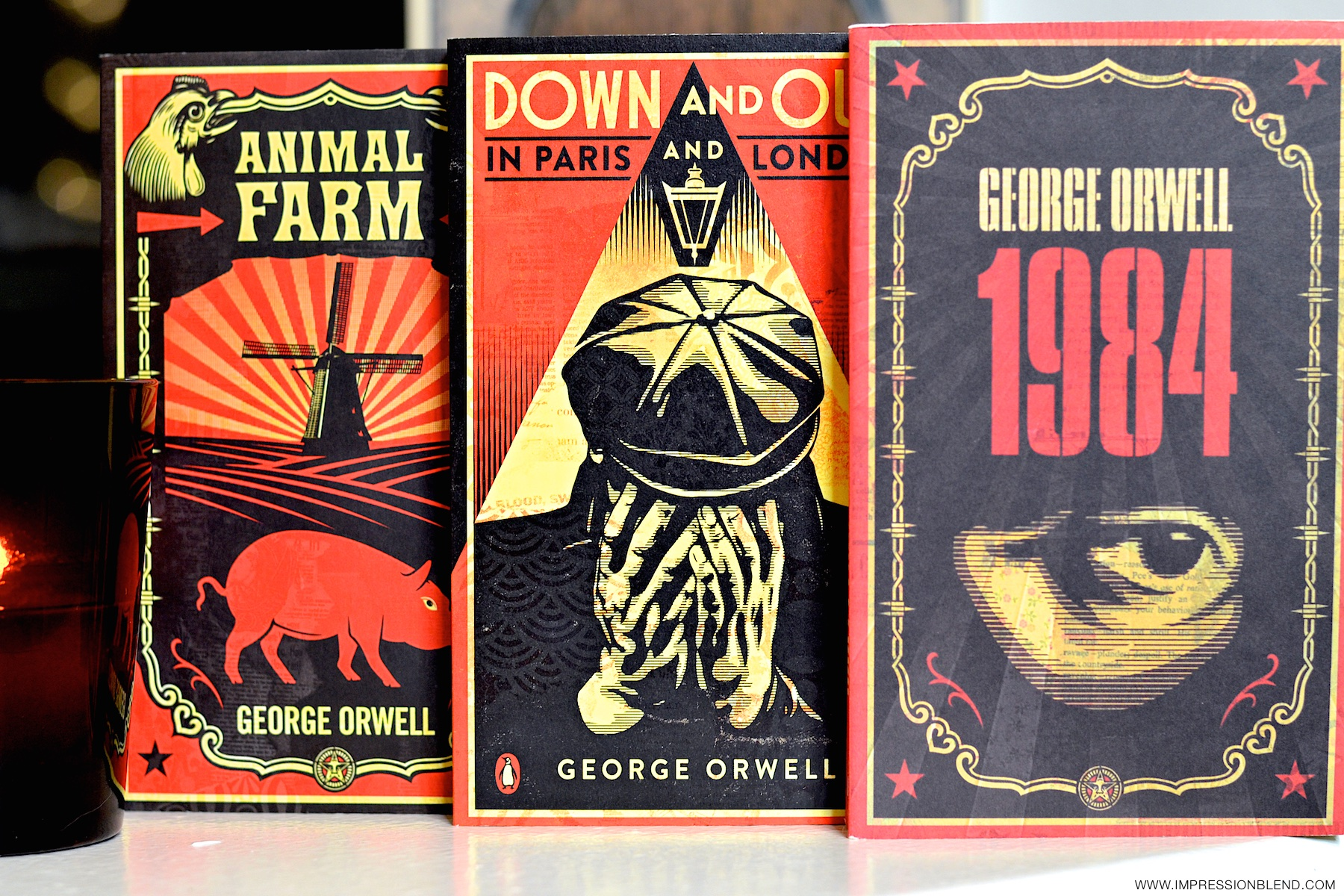 Animal Farm, Down and Out in Paris and London, and 1984