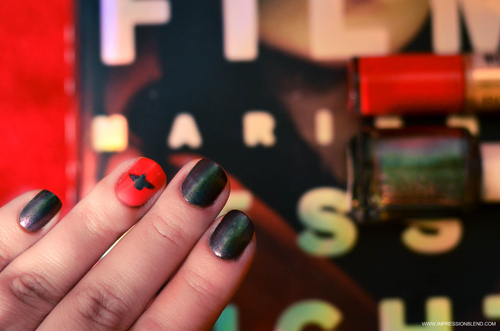 Nails inspired by Night Film