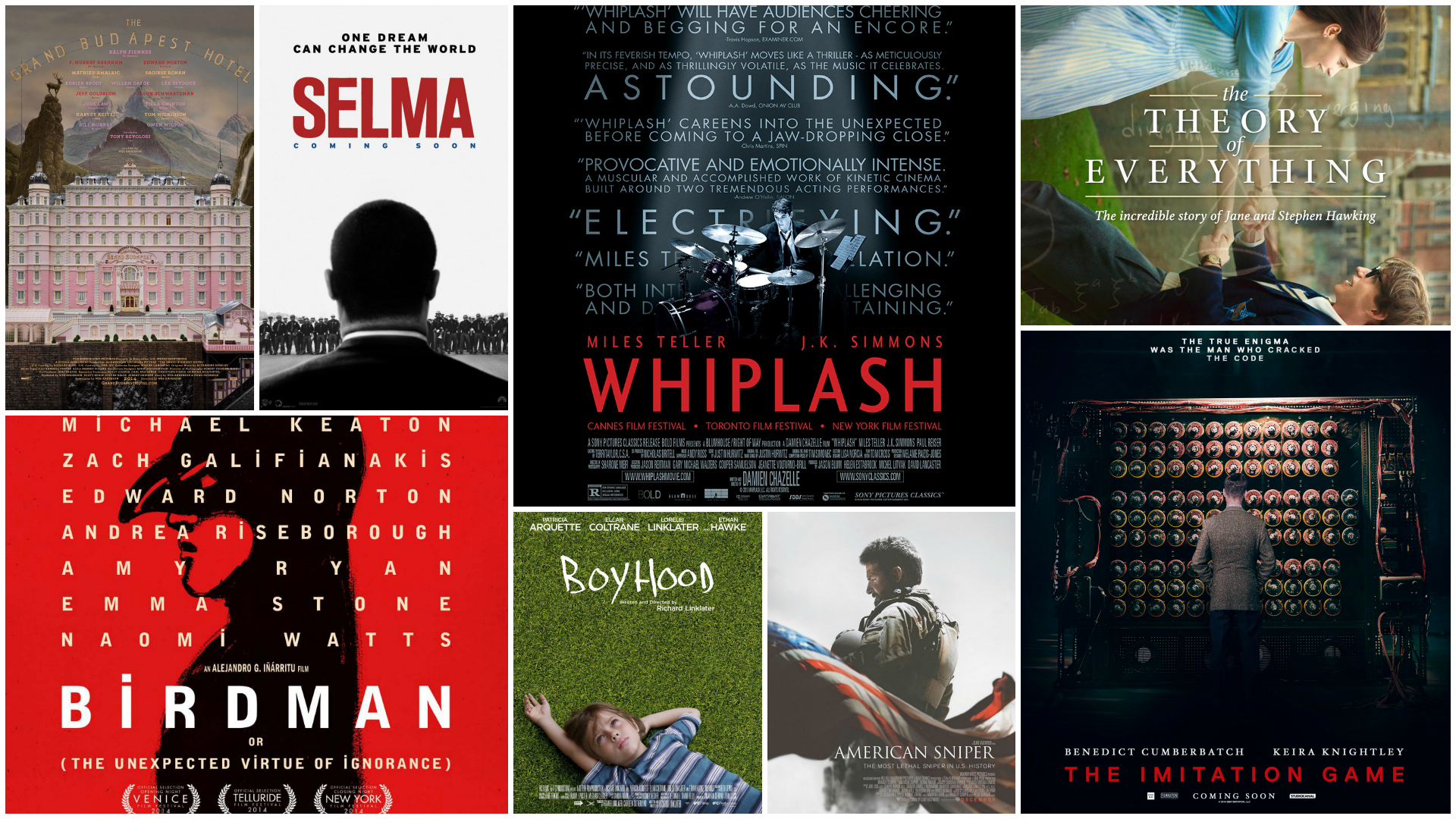 2015 Oscar nominees for Best Picture
