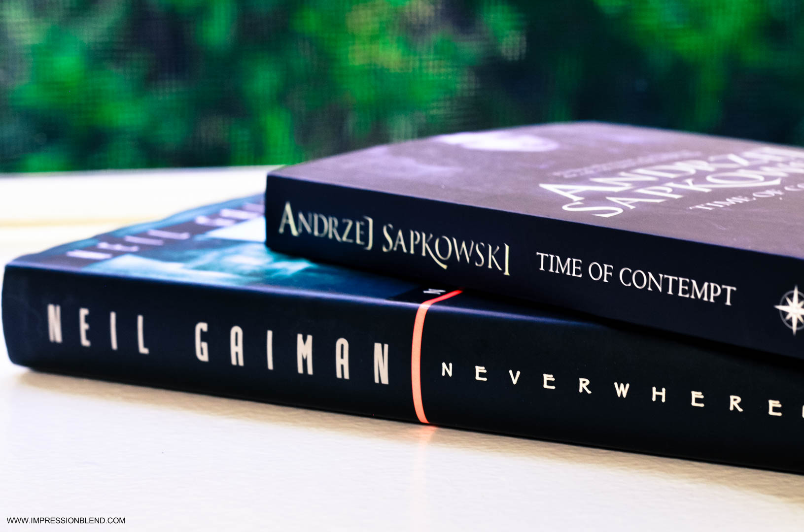 Neverwhere by Neil Gaiman and Time of Contempt by Andrzej Sapkowski