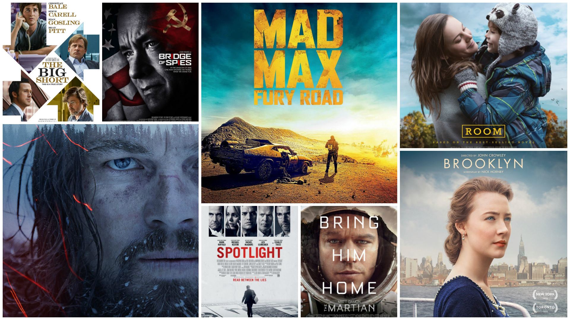 2016 Oscar nominees for Best Picture
