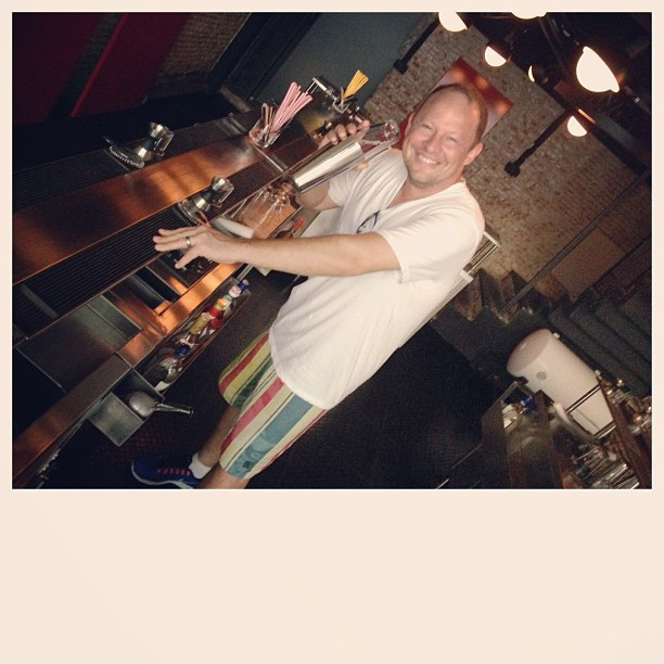 #Miami #chef E Michael Reidt of Area 31 mixing a #drink at BAR:School. #Bangkok #cocktails #bartender