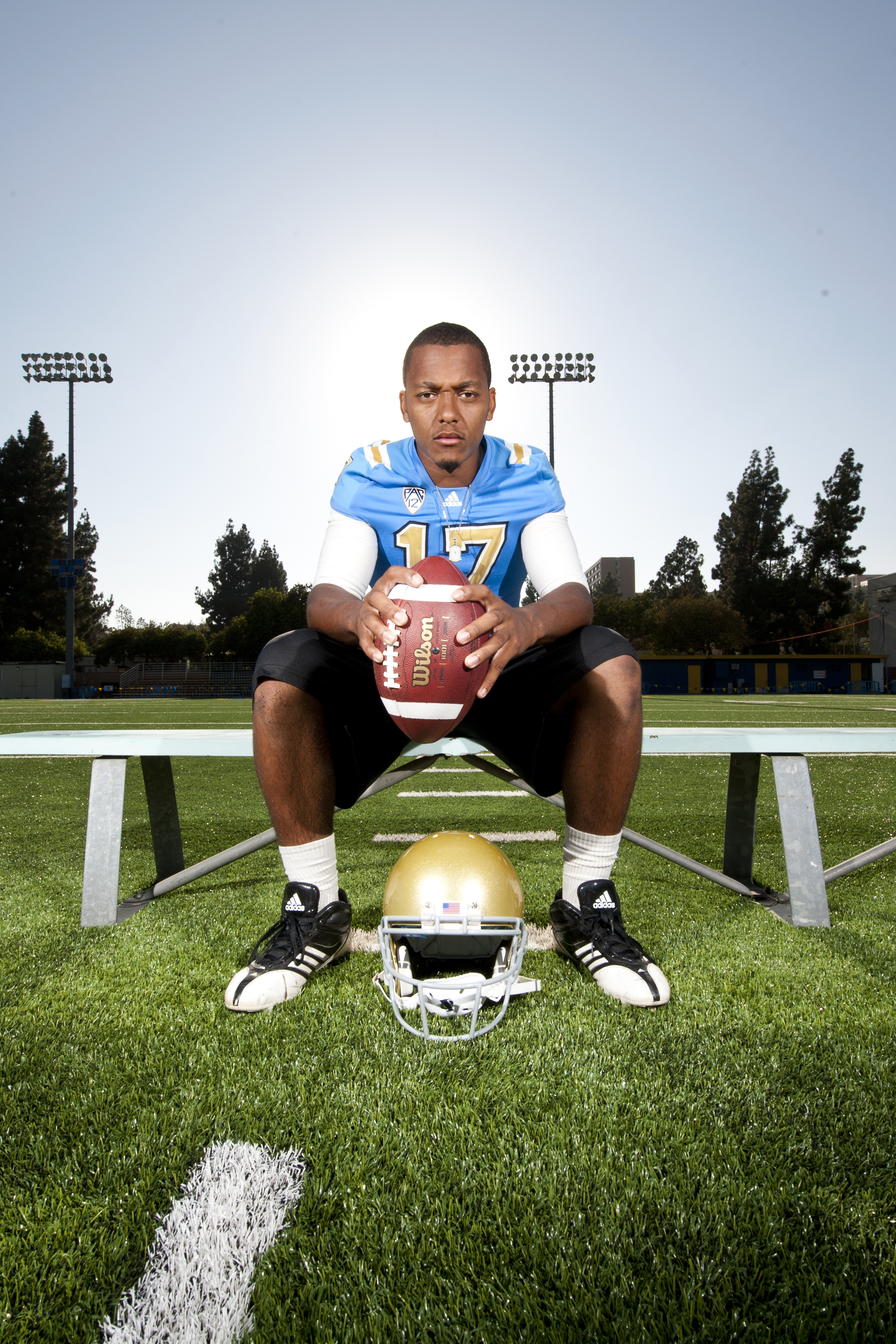LOS ANGELES, CA – Redshirt freshman quarterback Brett Hundley at Spaulding Field in August 2012.