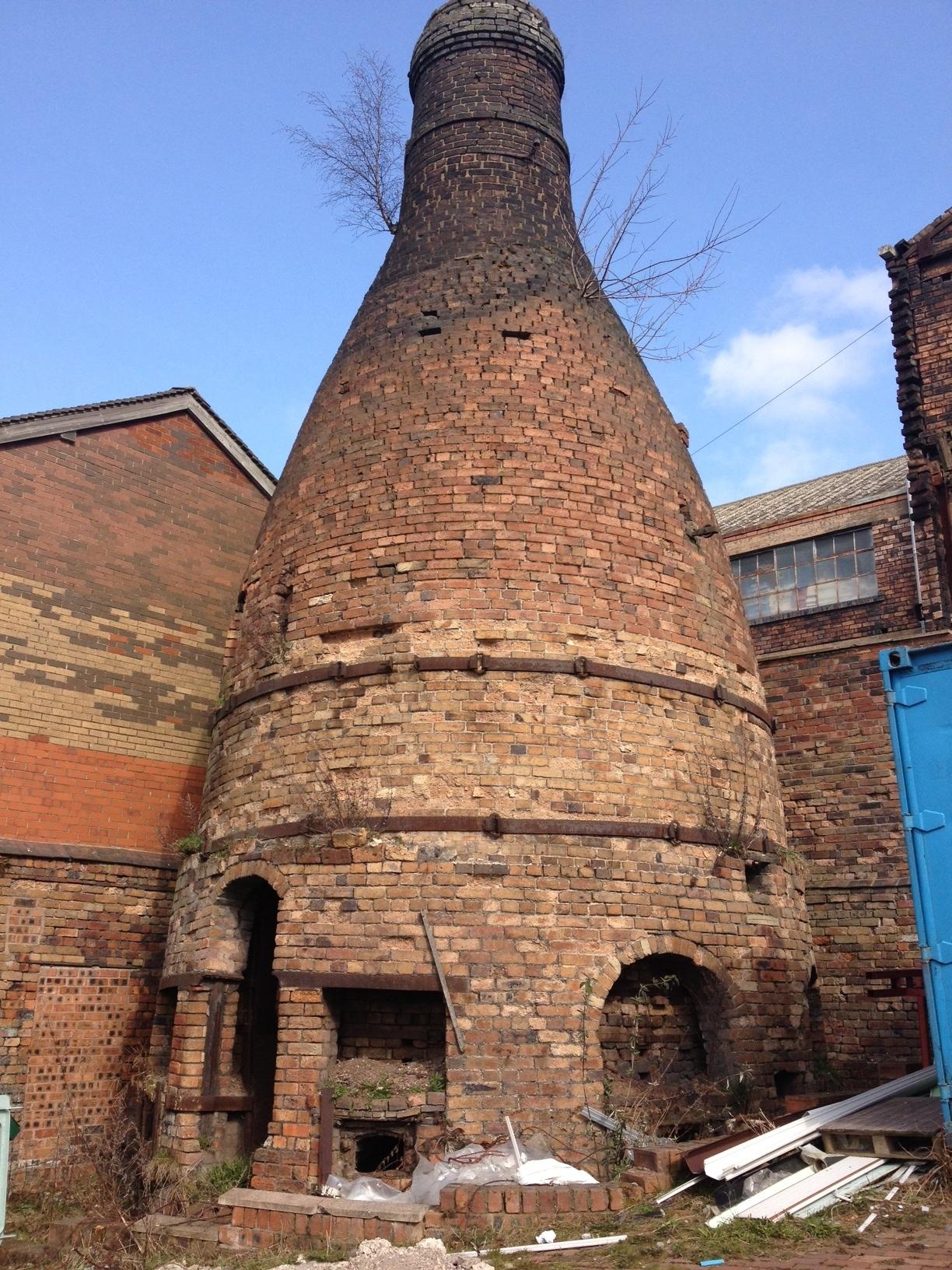 traditional bottle kiln in Longton, Stoke on Trent
