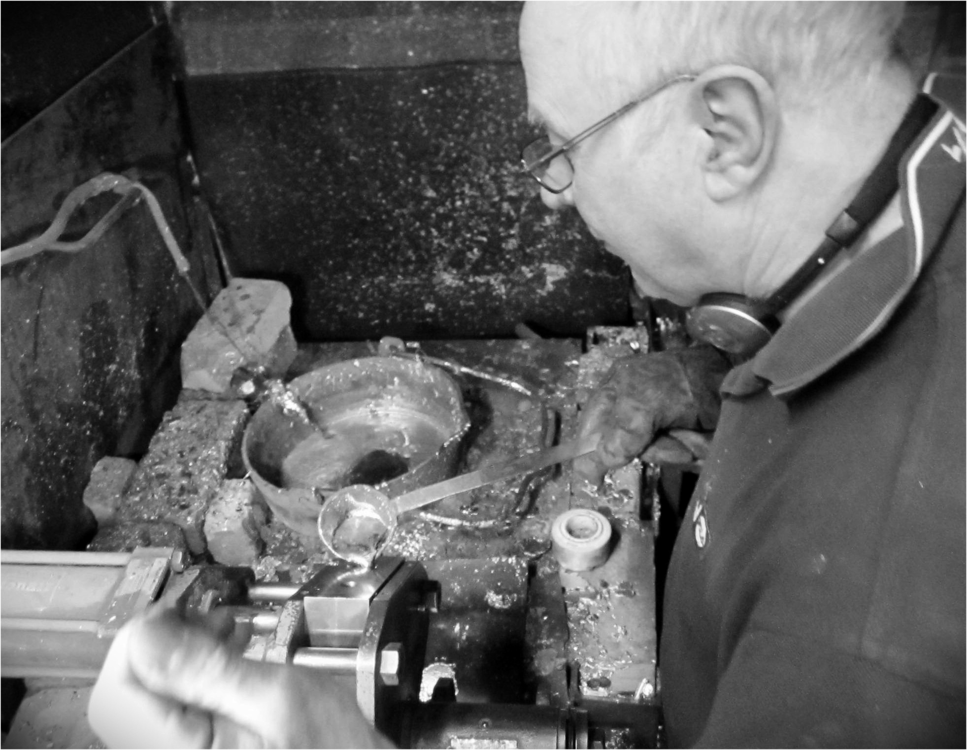 Pewter casting by Peter Holmes