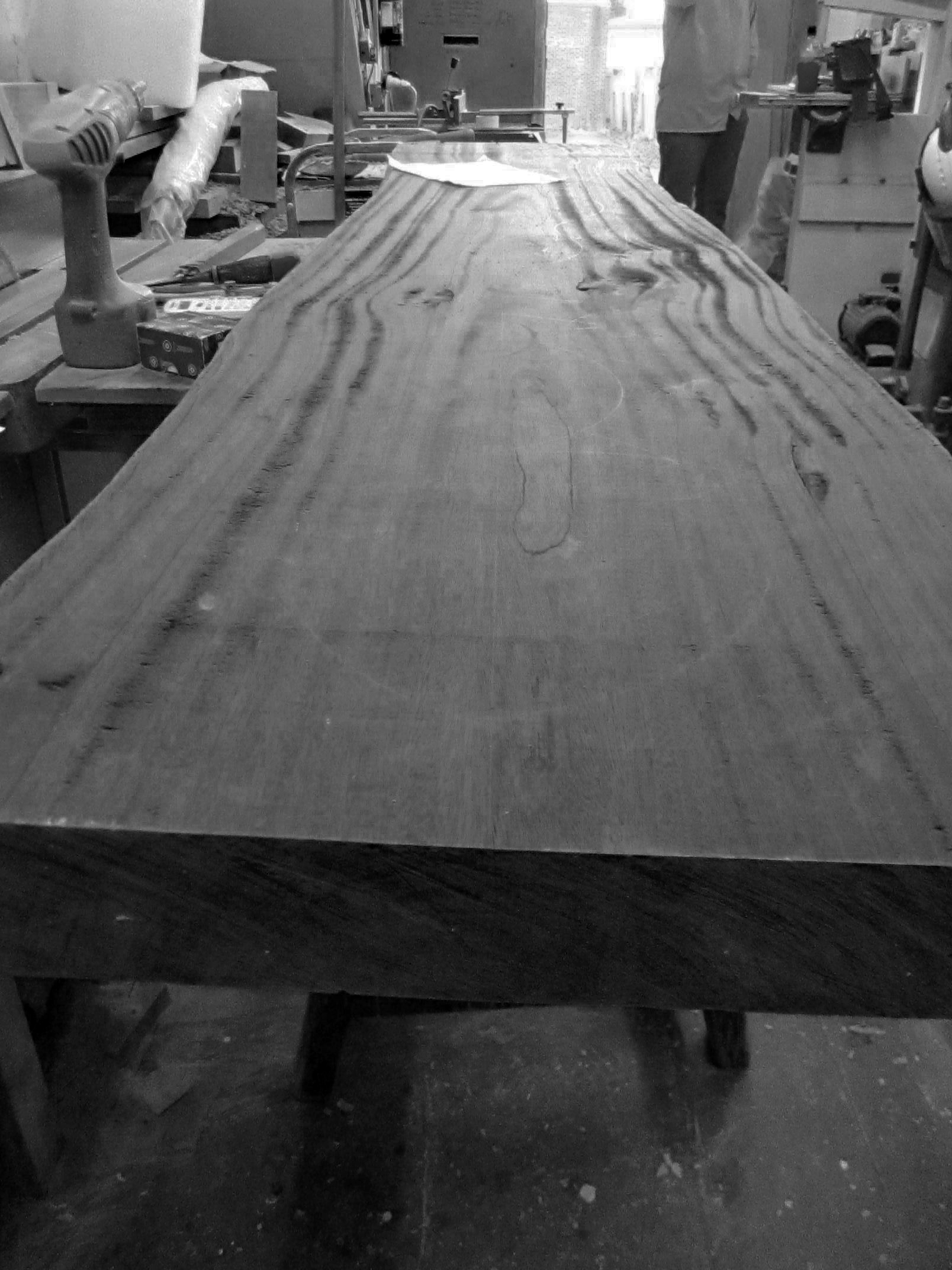 timber ready for cutting and turning into salad bowls