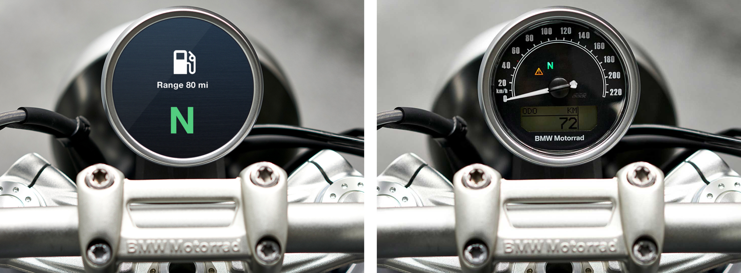 BMW R nineT interfaces