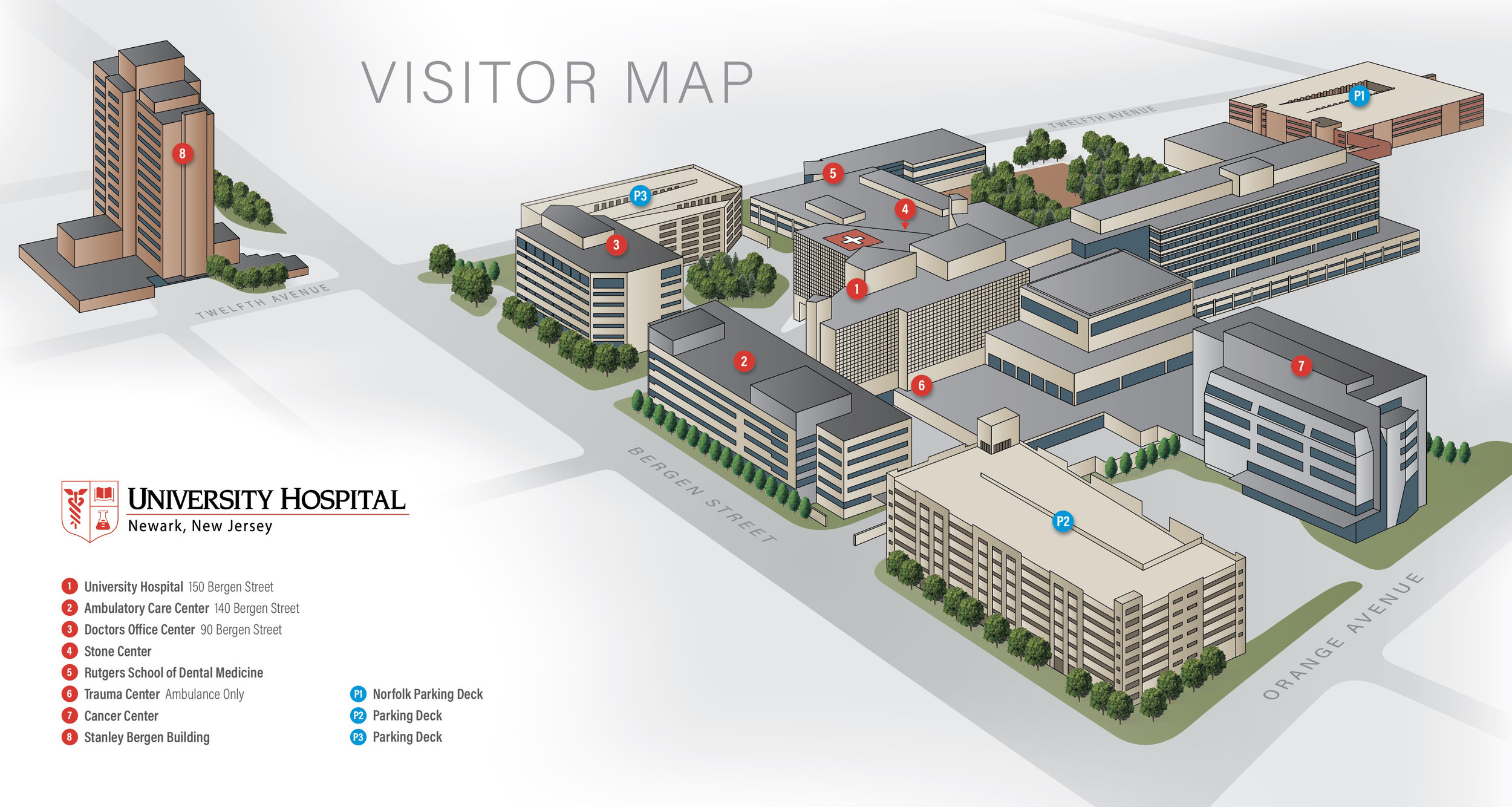 3D MEDICAL CENTER CAMPUS MAP