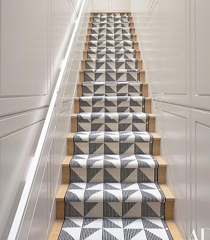 Image: Architectural Digest    If you are looking to add some color, texture, or personality into your home, stair runners are an excellent resource to do just that.  This latest trend creates dimension, adds creativity, and a visually unique element to show off your personal design style and add some livelihood to your staircase. This is a great place to experiment.  One of the best things about runners is how easily they can change as much as your style does throughout the years or seasons. Whether you have an eclectic, modern farmhouse, or contemporary style, stair runners are a universal way to show off your interior design style and creativity.