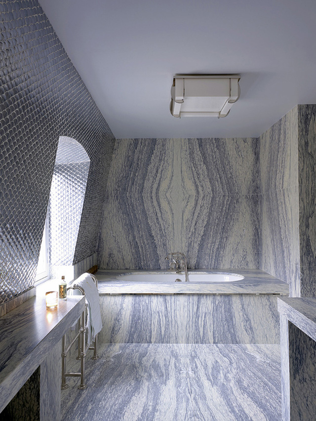 Christian Louboutin's apartment bathroom in Paris