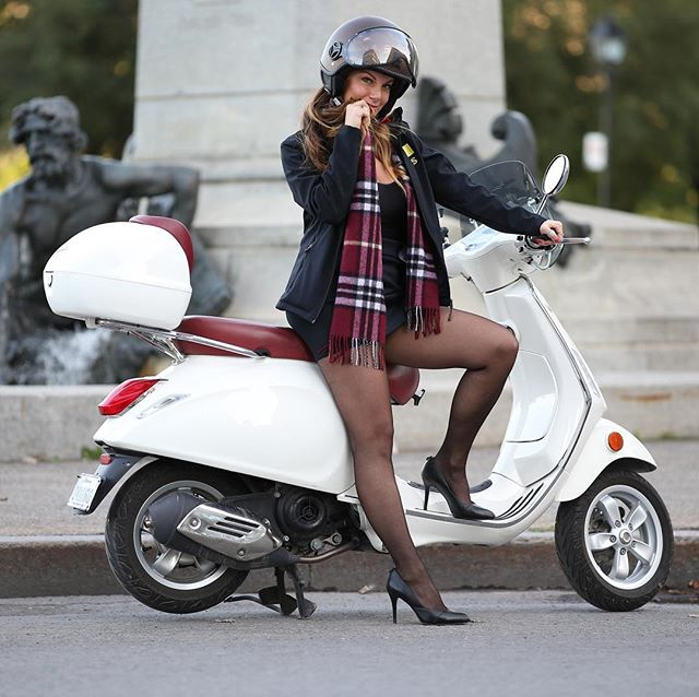 Old Montreal on a Vespa Primavera in the fall.