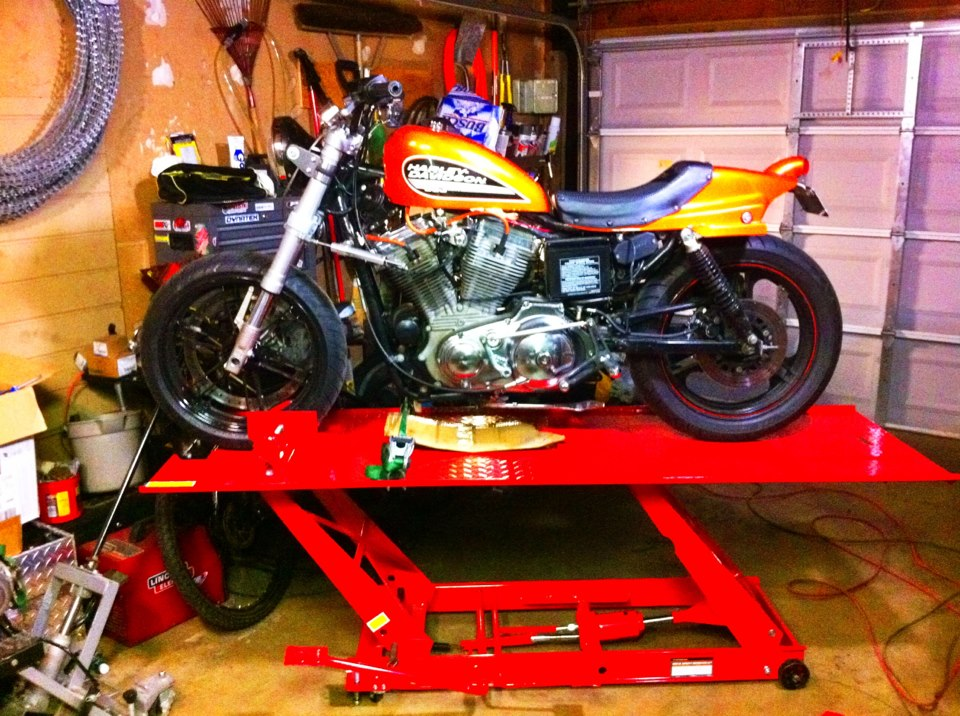 Building the Harley Flat Track bike.
