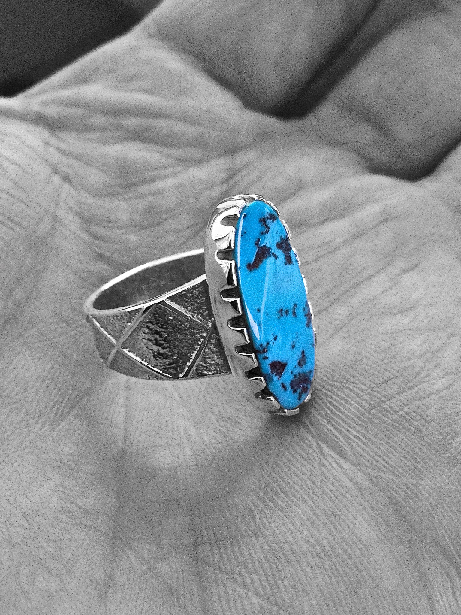 Sterling Silver & Sleeping Beauty Turquoise