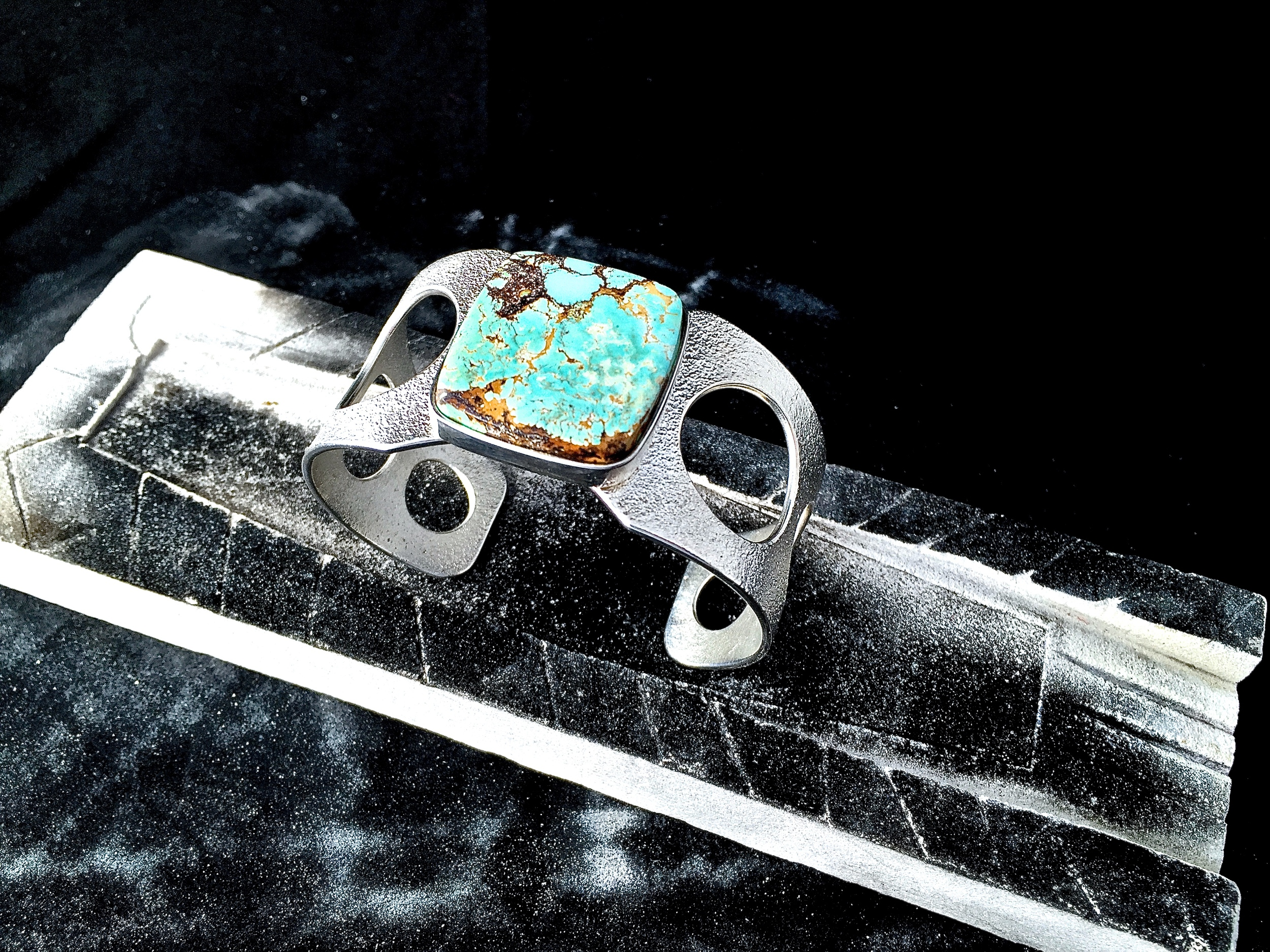 Sterling Silver & Pilot Mountain Turquoise