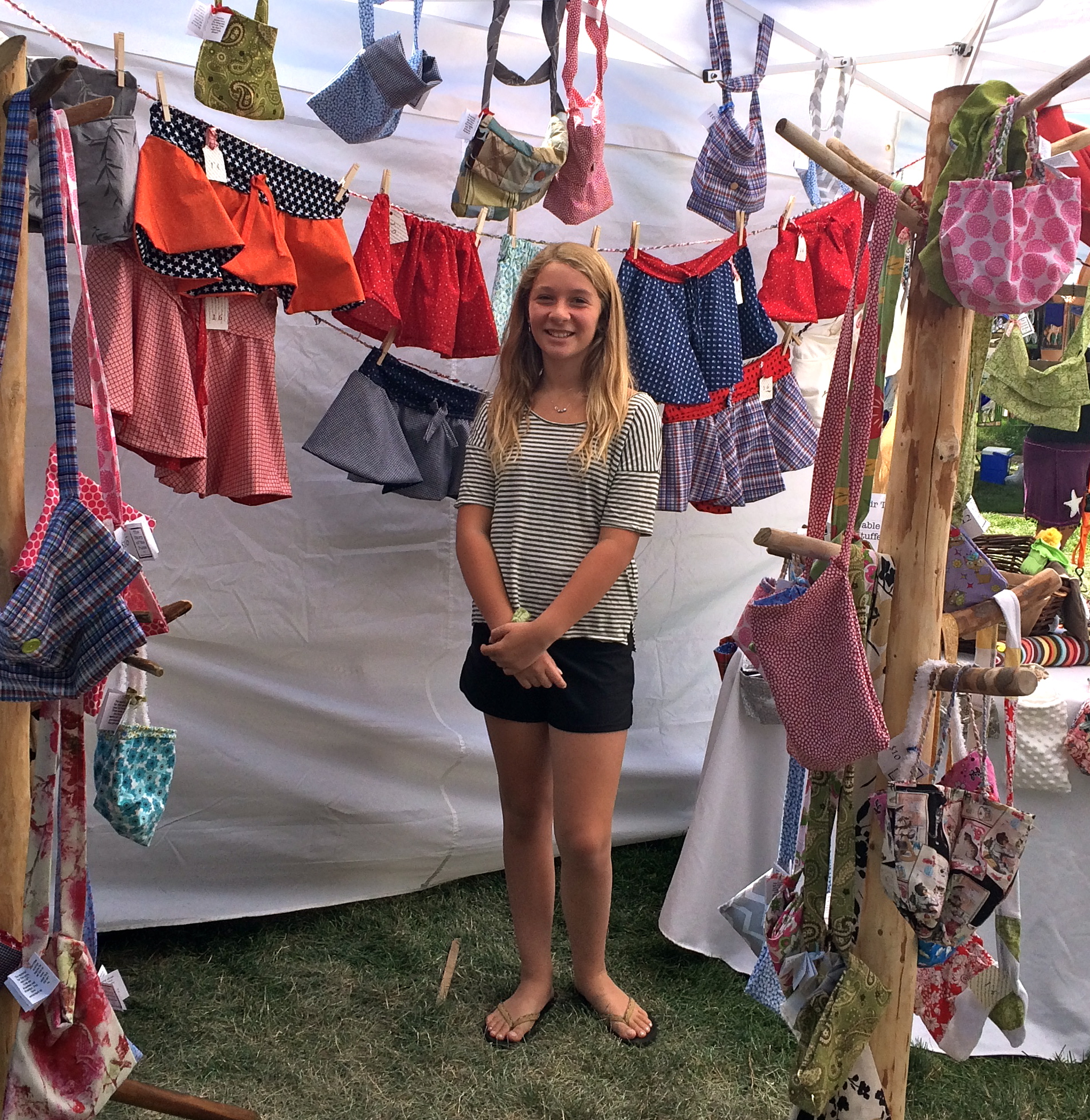 2015 Youth Booth artist Jamie Provost had a fun and successful booth at Art on the Green