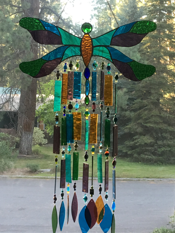 Dragonfly windchime by Cindy Draper