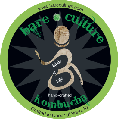 Locally crafted Bare Culture kombucha will be served in our Beer & WIne Garden