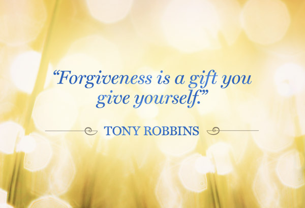 Forgiveness is part of a healthy life.