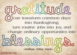 It is important to have gratitude when we feel blessed or are dealing with adversity