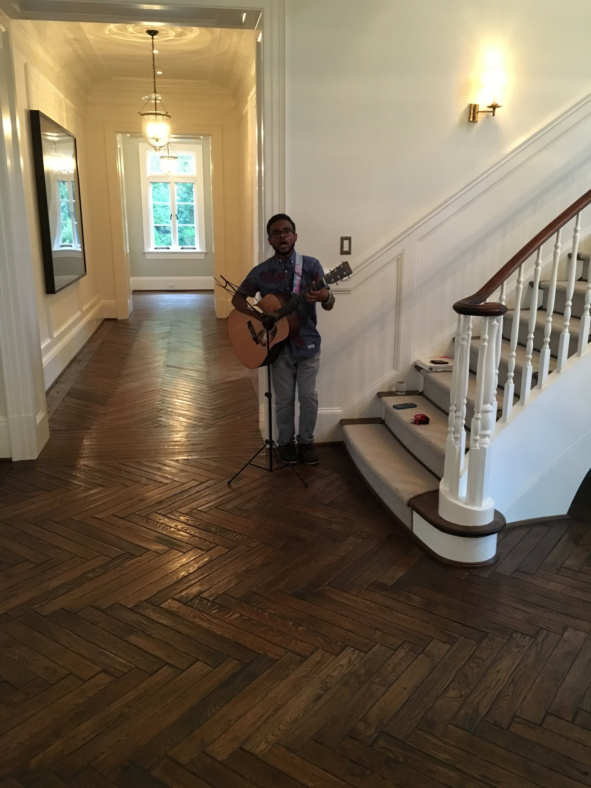 The Artist, Rosebud Ireland , playing while the ladies are coming in for the evening and during dinner.
